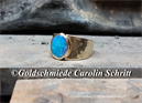 Ring 585 Gelbgold, Opal